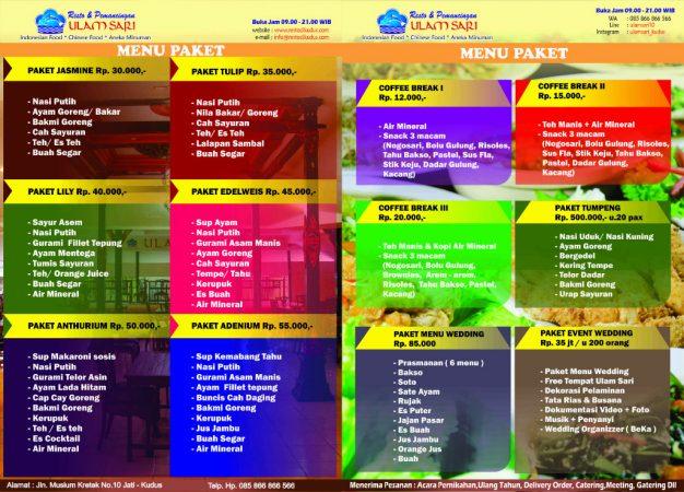 Daftar menu paket